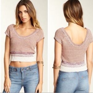 NWT Free People Annie Hall Cropped Sweater